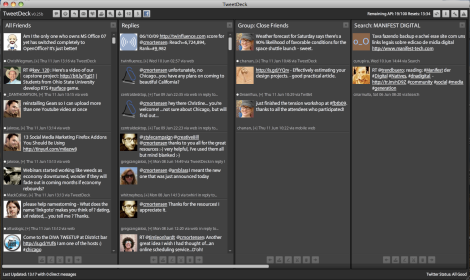 How I have a few columns configured in TweetDeck