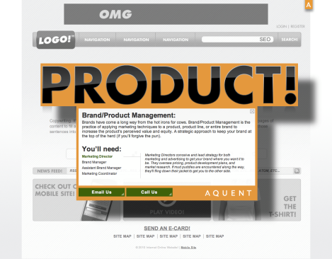 Landing Page- Product Rollover