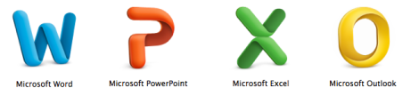The Microsoft Office suite icons for Mac