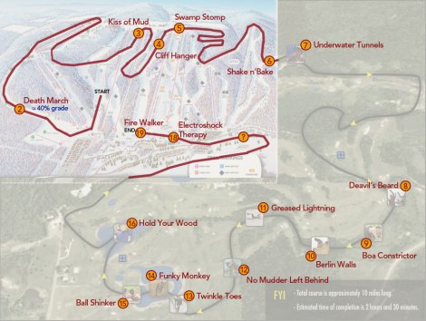 Tough Mudder Map with Devil's Mountain Overlay
