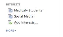 My interest lists